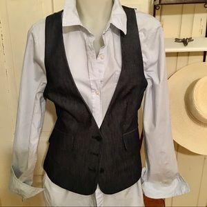 7th Avenue Design Studio Vest - 6 dark denim ,